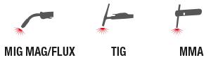 MIG-MAG/FLUX  -  TIG -  MMA